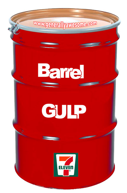 After the Bucket Gulp, 7-Eleven should release the Barrel Gulp!