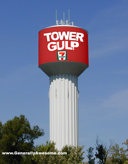 The tower gulp can power a whole neighborhood and extinguish thirst!