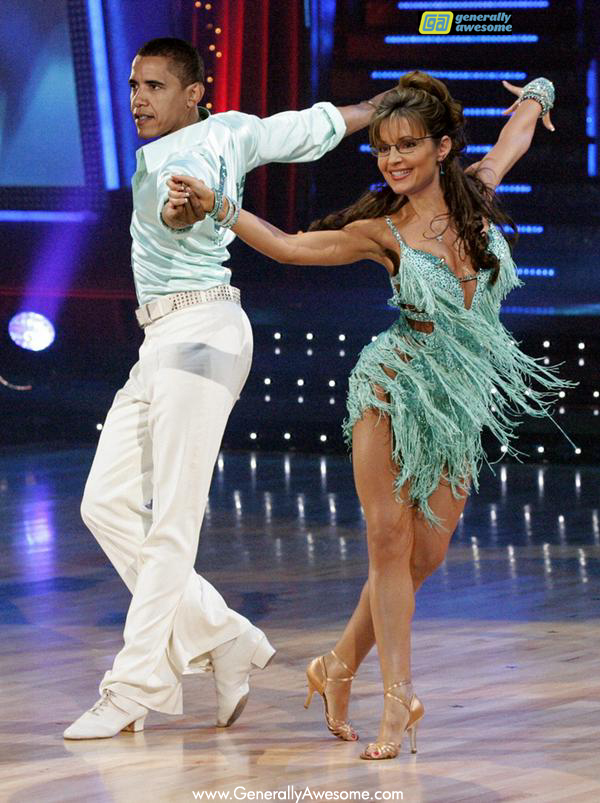 What if Barack Obama and Sarah Palin were partners on Dancing with the Stars?