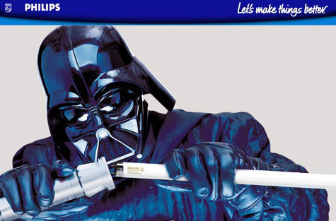 Philips and Industrial light and magic have teamed up to provide and even brighter Light Saber for good old Darth Vader.