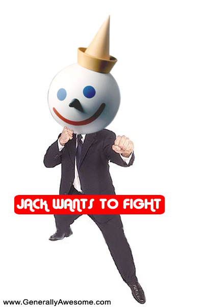 Jumbo Jack is ready to take on all comers.  He is ready to fight, the question is who wants to fight Jack?!