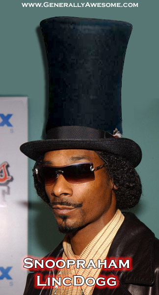 This great photo of snoop doggy dogg as Snoopraham LincDogg shows a great man who might have given the Gettysburg address in a completely different way if he had been there instead of President Abraham Lincoln!